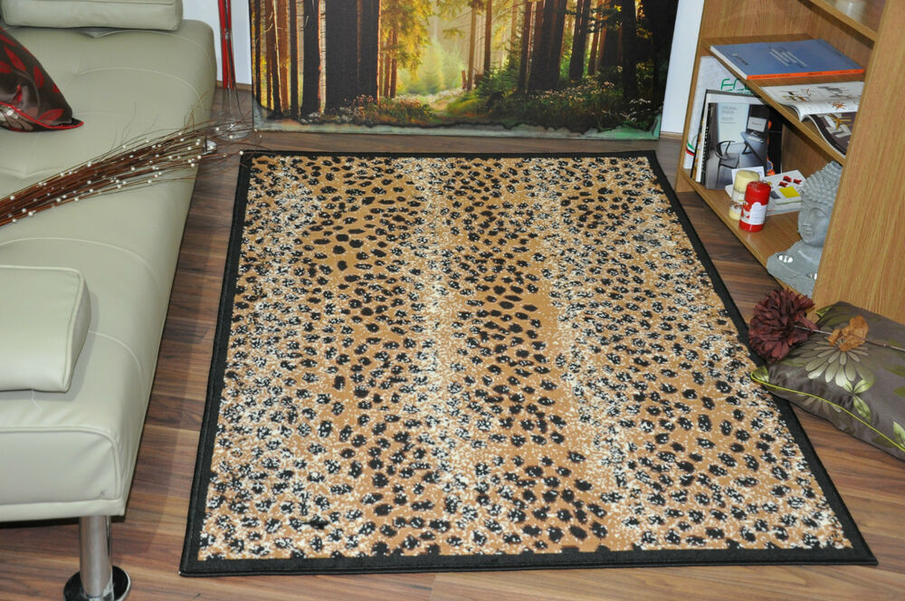 New Extra Large Modern Soft Leopard Skin Animal Print Rugs