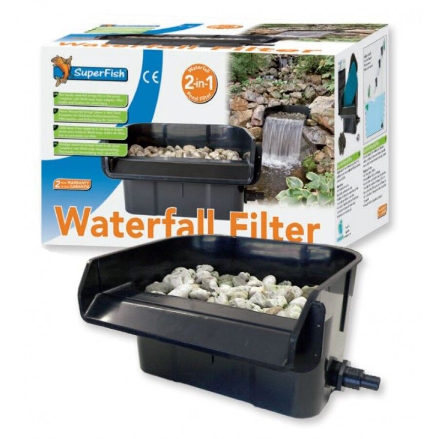 Superfish waterfall filter 44cm garden pond koi fish for Pond waterfall filter