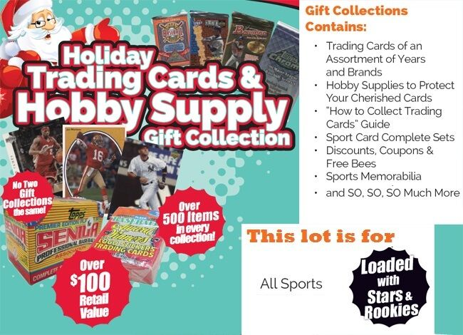 Holiday trading cards hobby supplies mixed sport gift