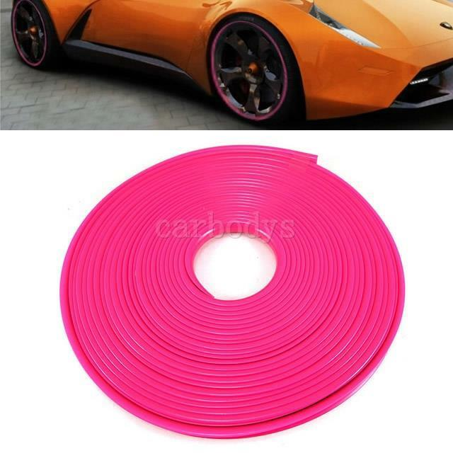 Pink New Wheel Rim Protector Tire Guard Line Exterior Moulding Trim For Car Ebay