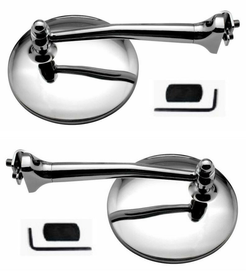 4 Quot Chrome Straight Arm Peep Mirrors Clamps Door Edge