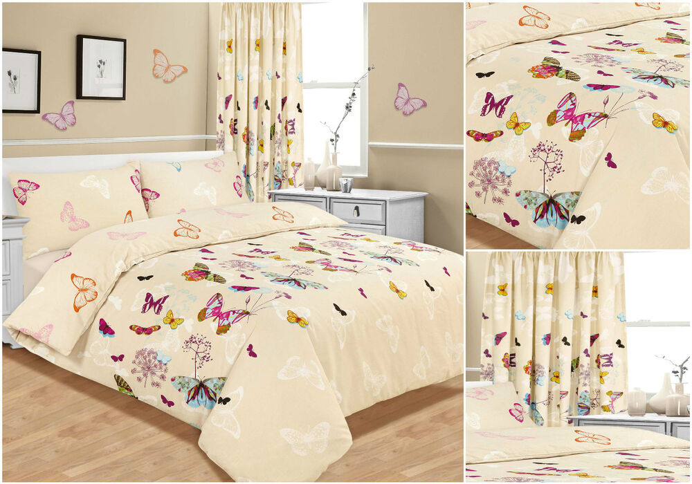 Butterfly Glaze Bedding Set Duvet Cover Single Double