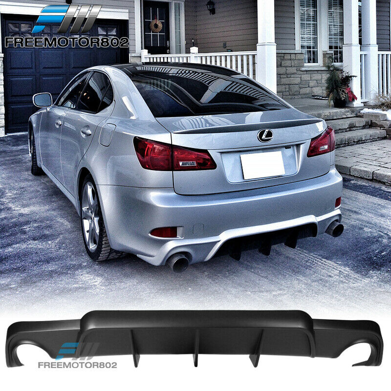Lexus Performance: FIT 06-12 LEXUS IS250 IS350 4DR PU Black Rear Bumper Lip