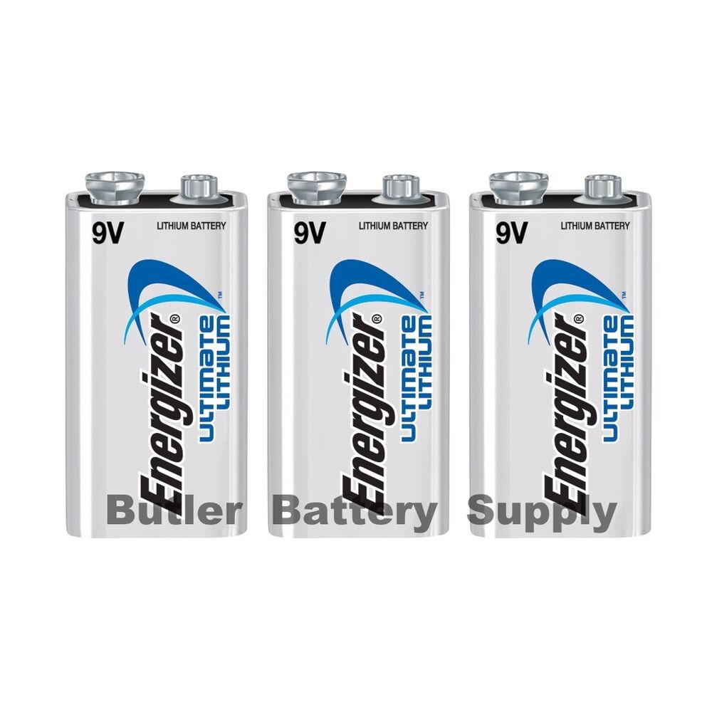 3 energizer ultimate lithium 9v 9 volt batteries l522. Black Bedroom Furniture Sets. Home Design Ideas