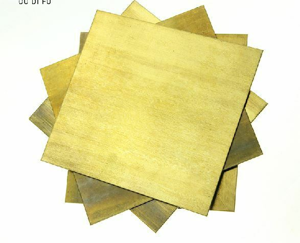 1pcs brass metal sheet plate 3mm x 100mm x 100mm ebay for Thin aluminum sheets for crafts