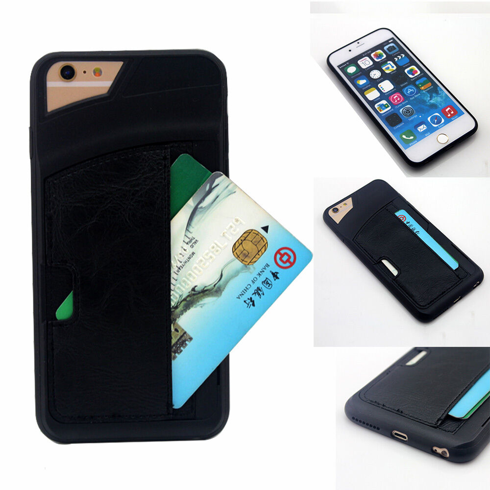 credit card for iphone shockproof tpu leather credit card holder wallet 5824