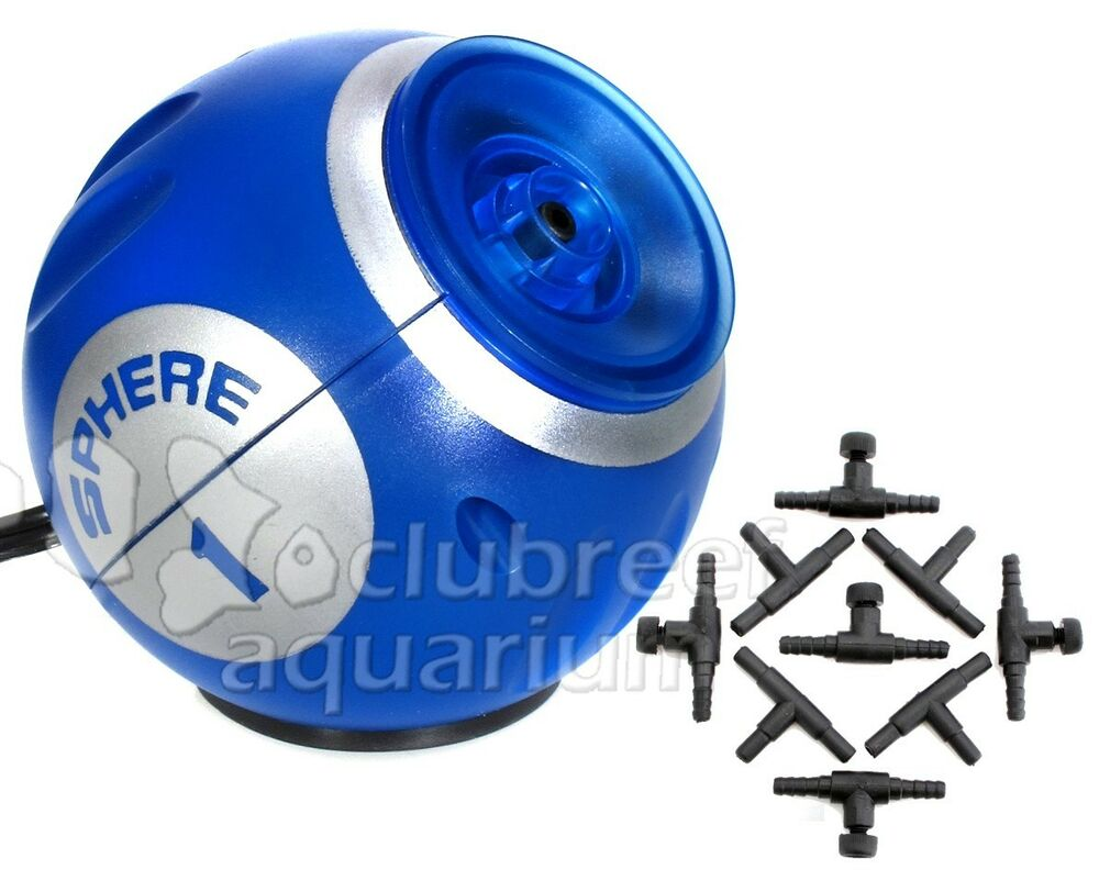 sphere one aquarium air pump 10 gallon internal deep blue