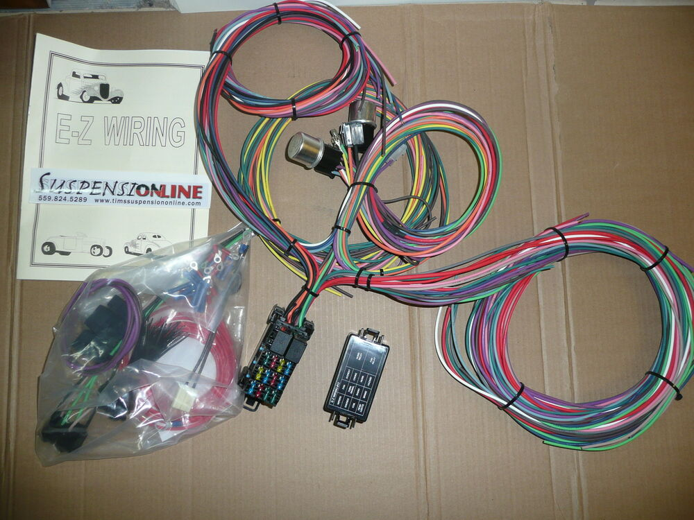 Vintage Wiring Harness Uk : Ez wiring min harness uses mini fuses universal street