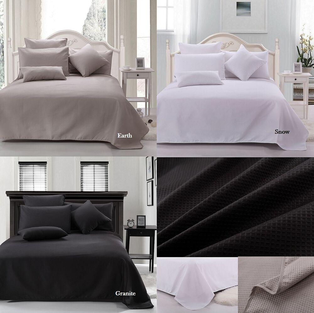 44a8b242a9 Details about Ardor Premium 100% Cotton Waffle Blanket Single   Double  Queen   King 3 Colours