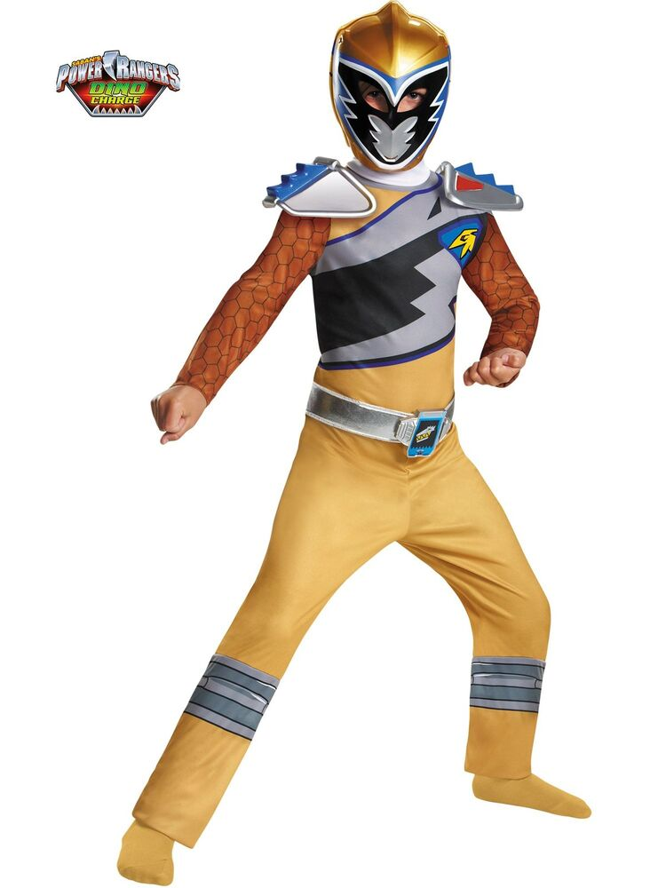 gold ranger dino charge classic costume for kids ebay. Black Bedroom Furniture Sets. Home Design Ideas