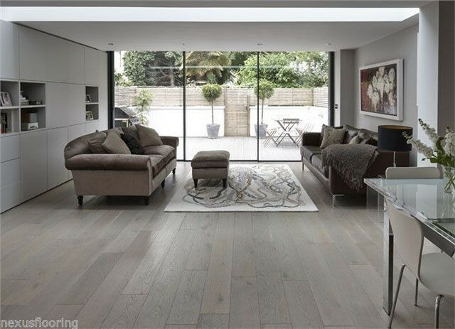 Engineered Smoked London Grey Brushed Real Wood Wooden