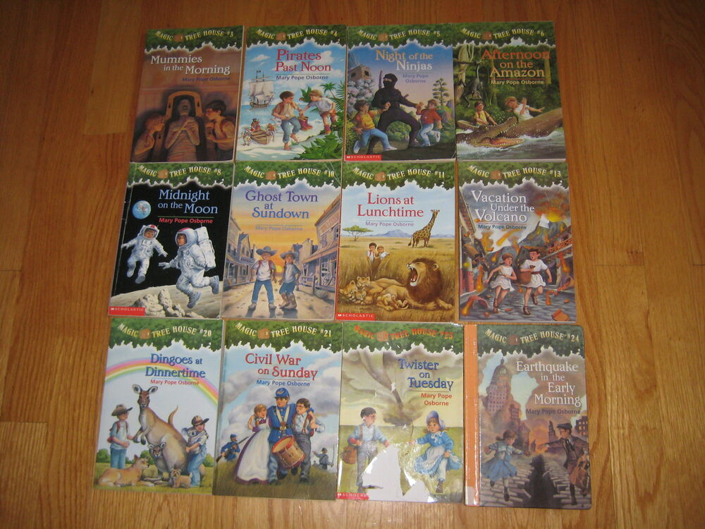 MAGIC TREE HOUSE Book LOT 4 Books Hardcover Haunted Castle Magicians #2 #35 #30