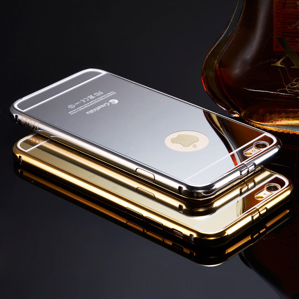 mirror iphone case luxury aluminum ultra thin mirror metal cover for 3118
