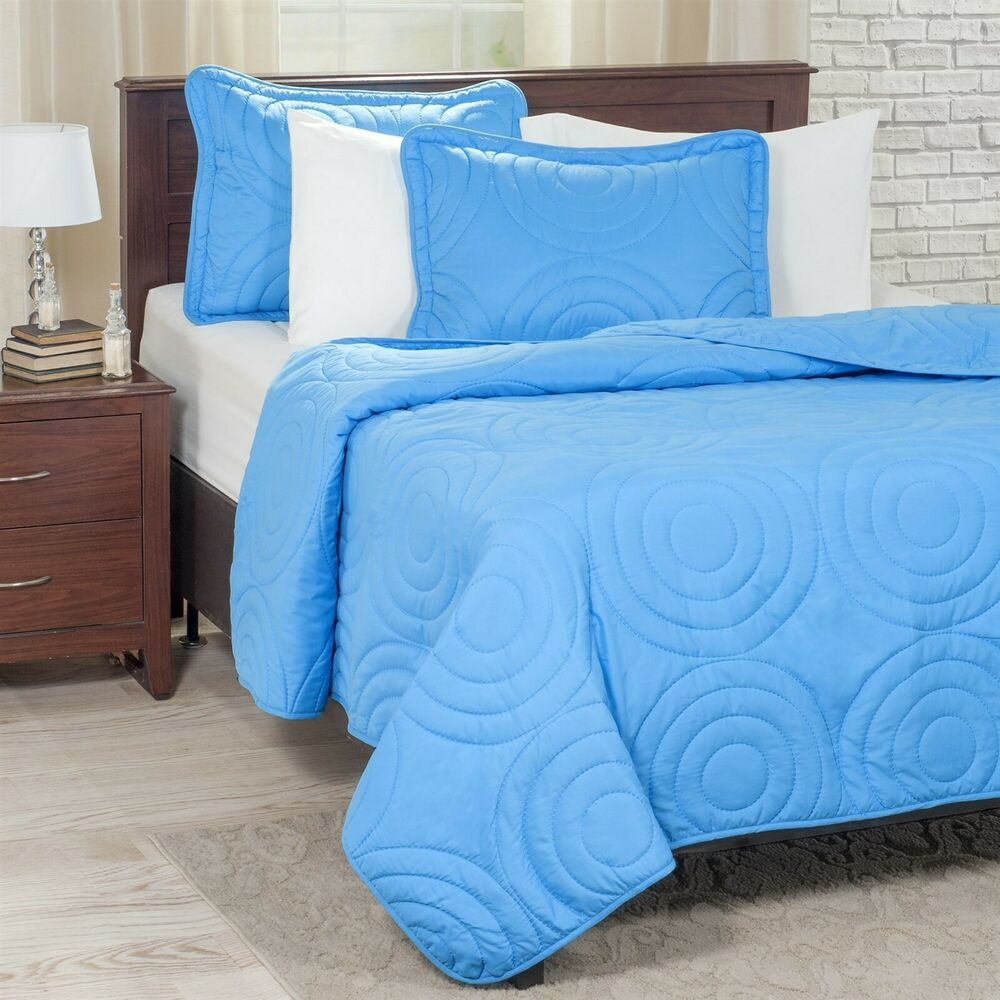 Lightweight Summer Full Queen Size Quilted Blanket Coil