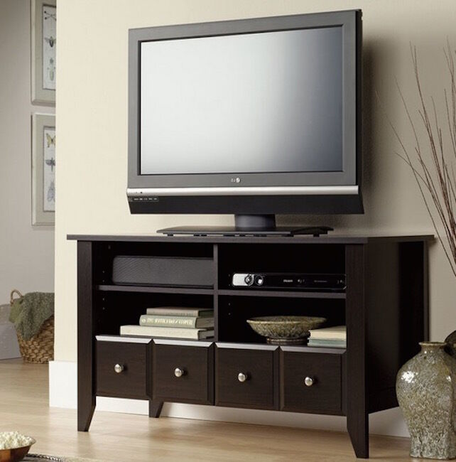 Wood tv stand modern home furniture cabinet storage
