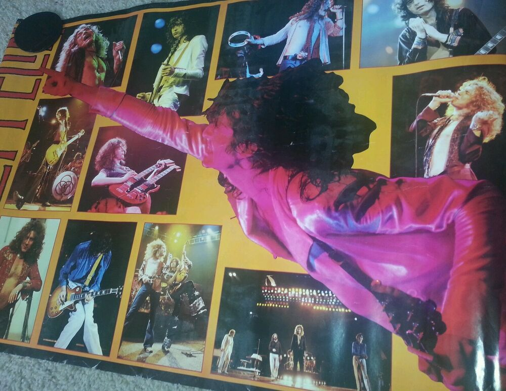 Led Zeppelin 24x36 (Yellow) Live Concert Collage Poster ...