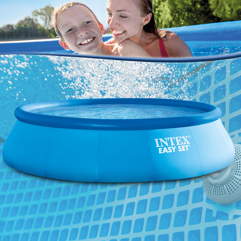 Intex 457x91 schwimmbecken swimming pool schwimmbad quick for Obi quick up pool