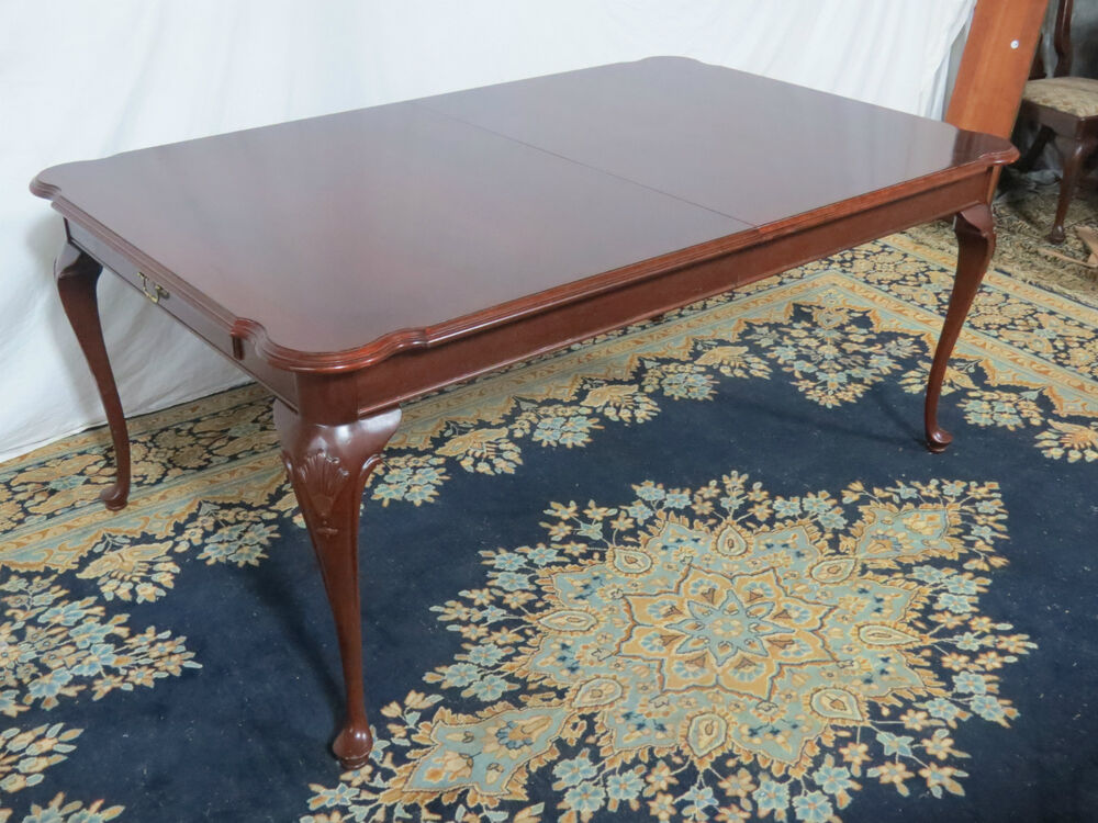 Setting Dining Room Table: CHERRY ETHAN ALLEN CHIPPENDALE DINING ROOM TABLE SET