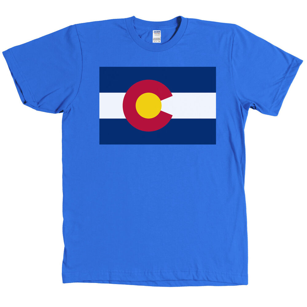 Colorado State Flag Shirt Co Pride Denver Tee New With