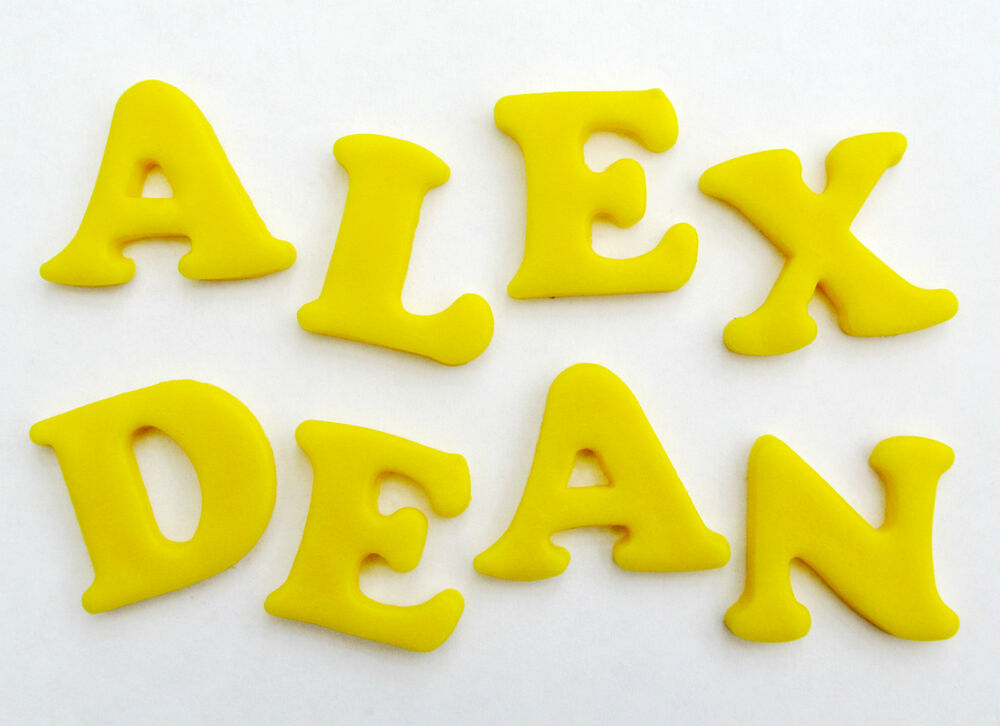PICK & MIX LETTERS/NUMBERS edible sugar cake topper ...