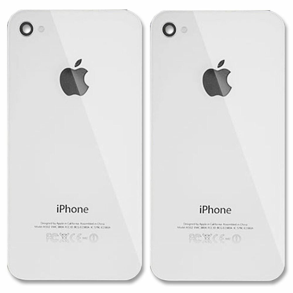 iphone 4 back glass replacement 2x replacement rear back glass battery cover panel for 17330