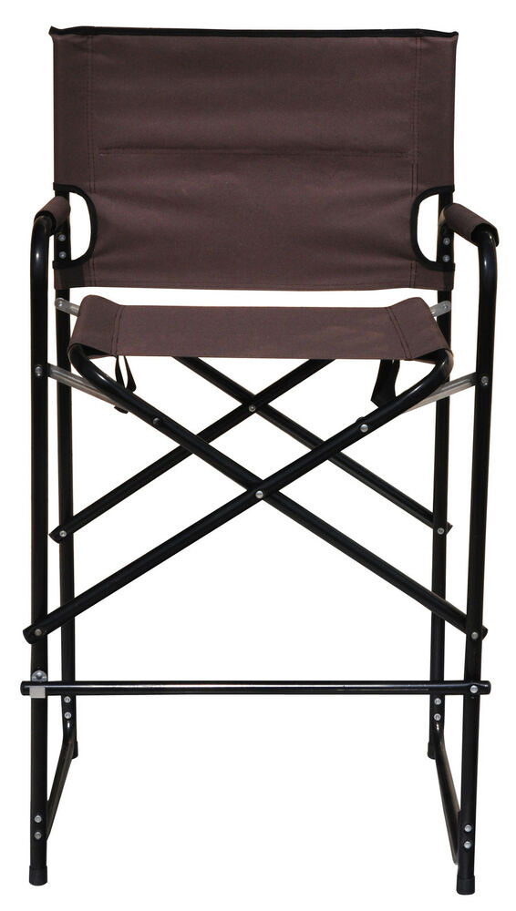 Aluminum Folding Tall Director 39 S Chair By Tra EBay
