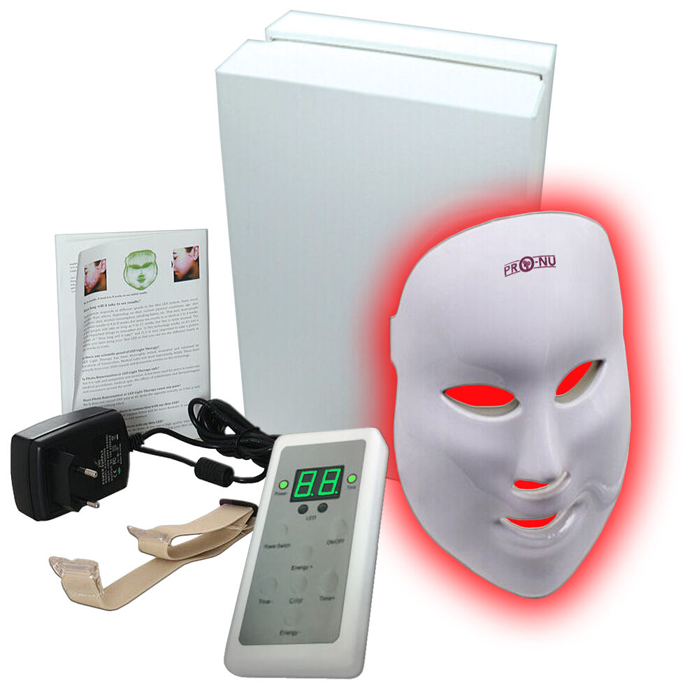 NEW Pro-Nu LED Photon Facial Mask Skin Rejuvenation LED