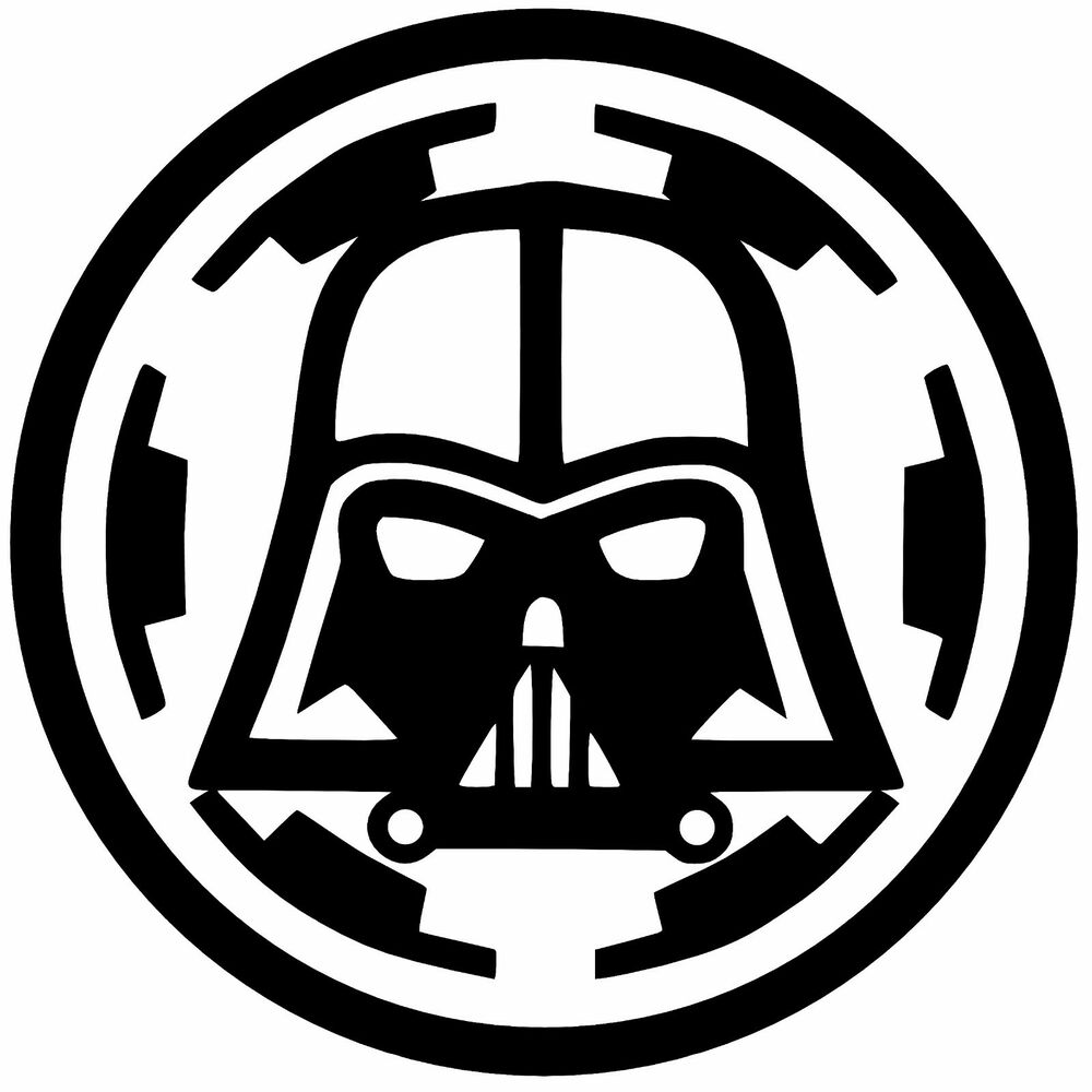 darth vader over empire vinyl decal sticker car laptop. Black Bedroom Furniture Sets. Home Design Ideas