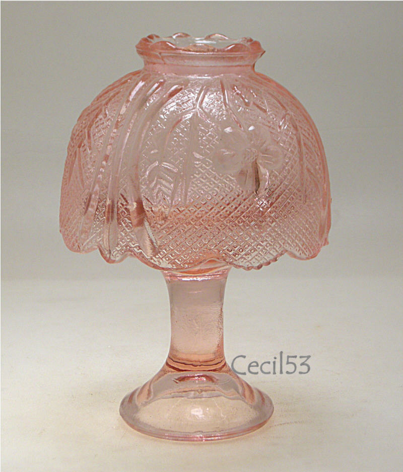Pink Glass Courting Fairy Lamp Votive Candle Holder Ebay