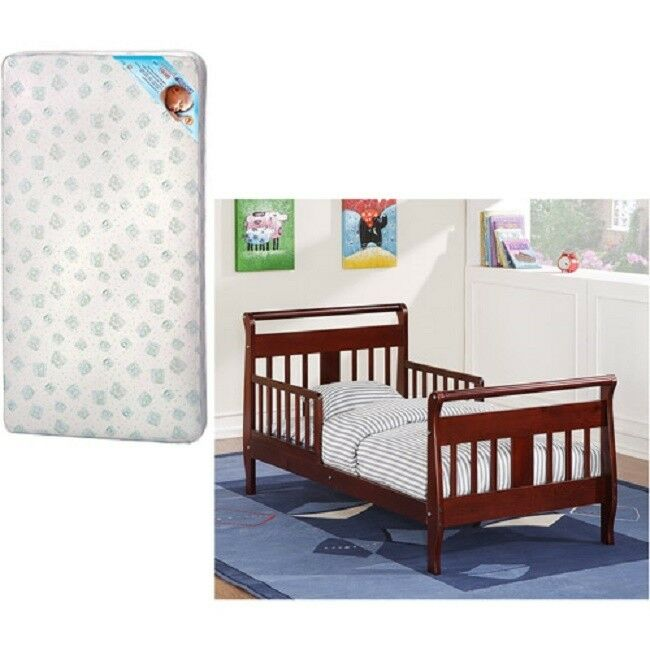 Toddler Bed Kid Crib Baby Relax Bedroom Furniture Espresso