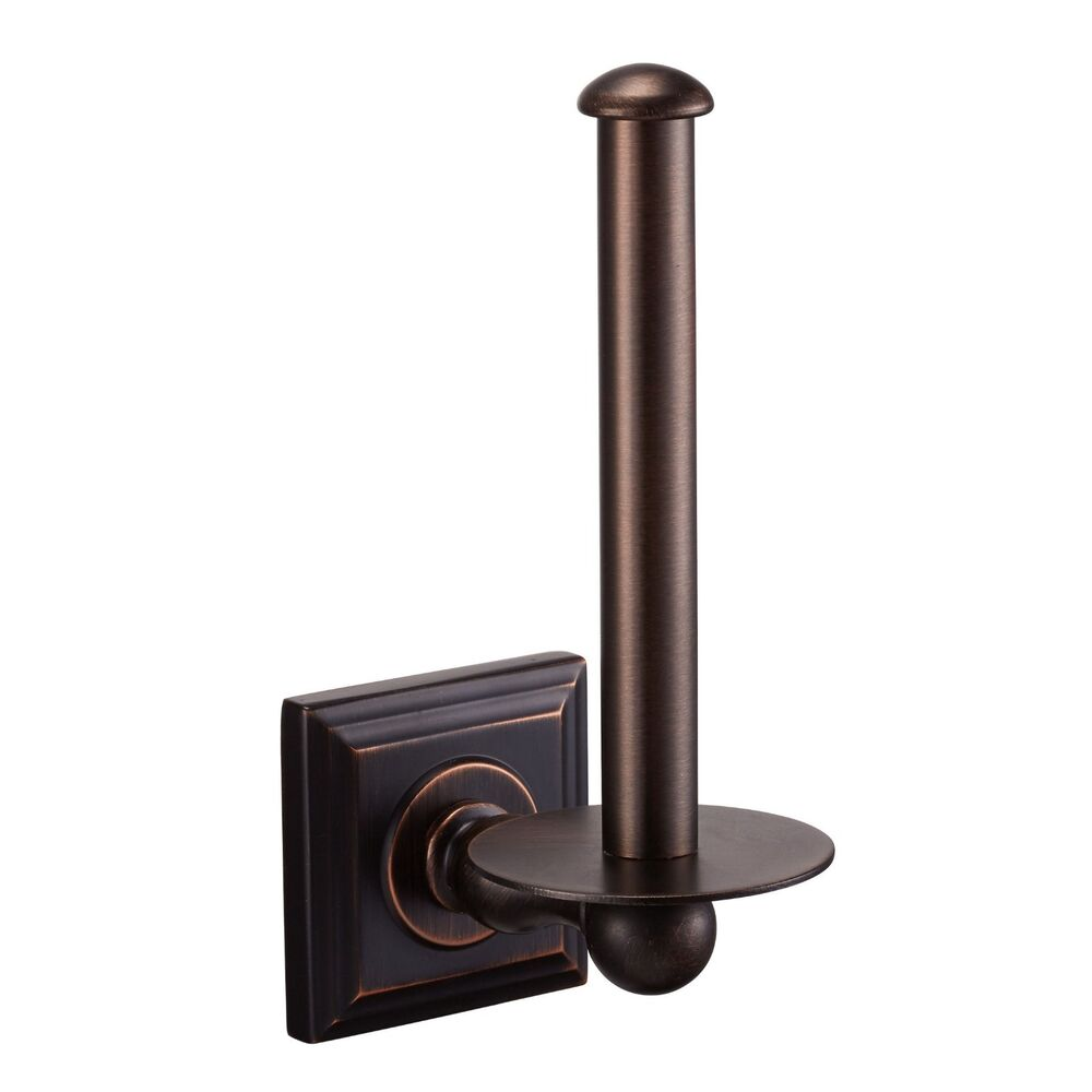 aurora oil rubbed bronze vertical toilet tissue paper holder 18789 ebay. Black Bedroom Furniture Sets. Home Design Ideas