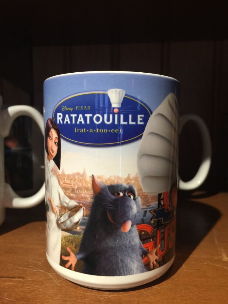Disney parks epcot pixar ratatouille remy ceramic coffee mug cup new ebay - Walle and eve mugs ...