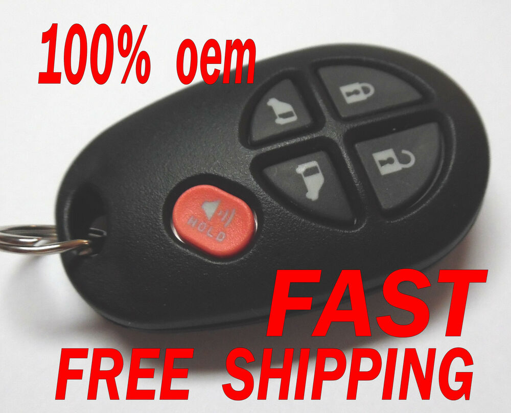 oem 2011 2015 toyota sienna 5 button keyless remote entry fob gq43vt20t ebay. Black Bedroom Furniture Sets. Home Design Ideas