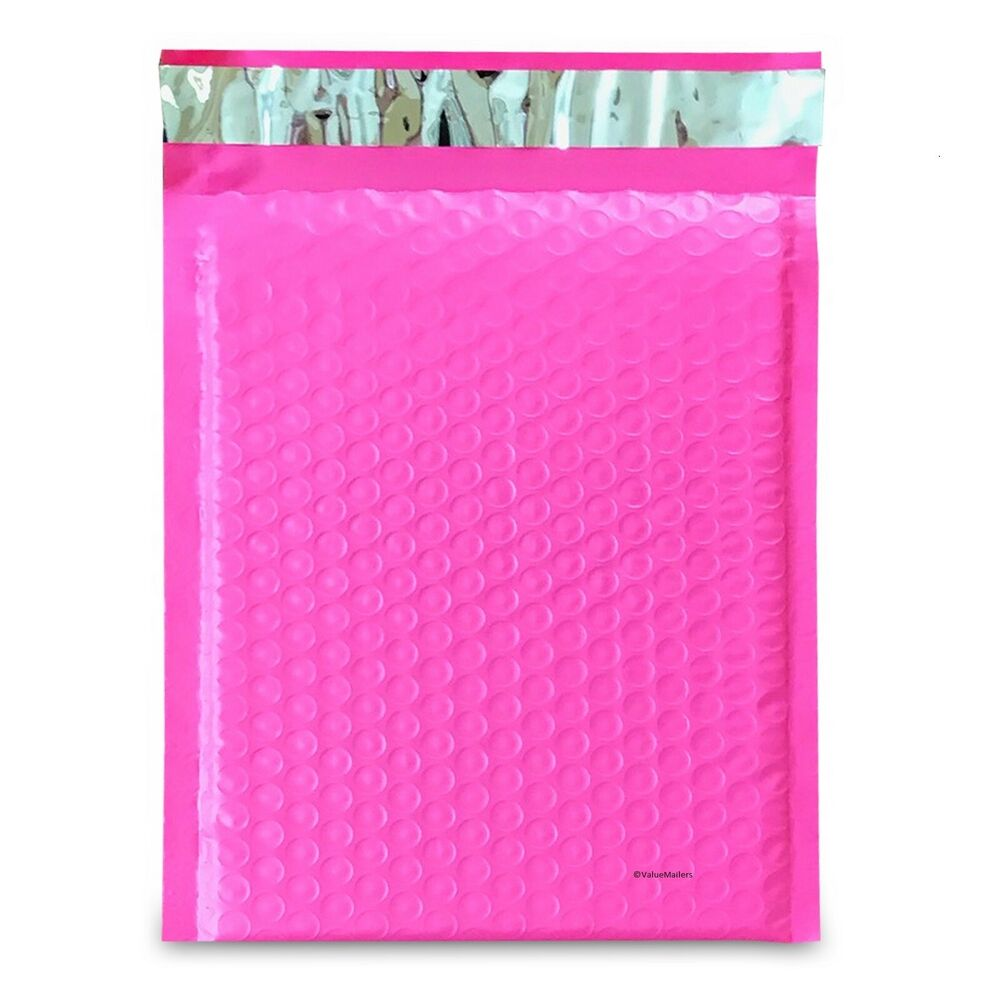 100  0   pink   poly bubble mailers envelopes bags 6x10