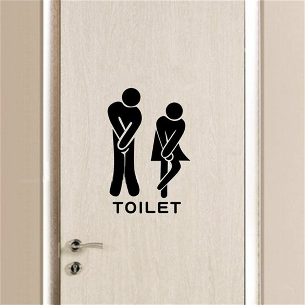 Funny wall decal bathroom decoration toilet rules art wall for Deco salle de bain stickers