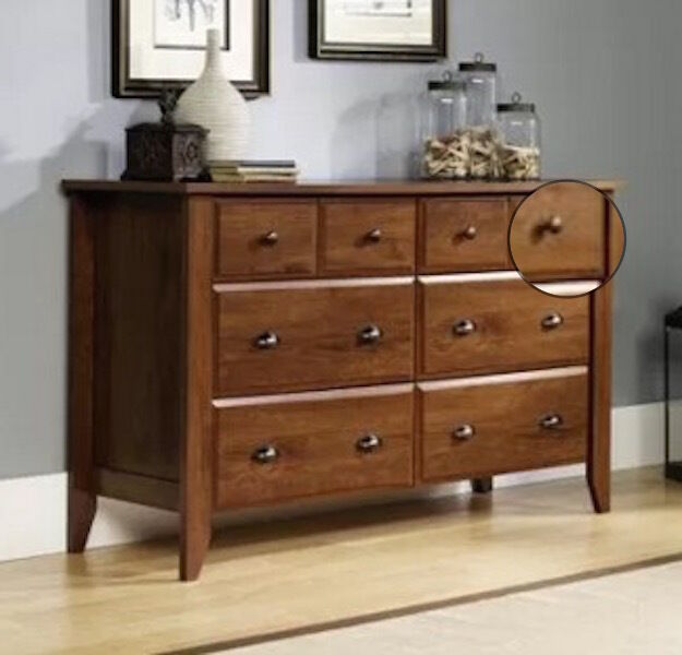 Oak 6 Drawer Dresser Double Wood Chest Modern Furniture Storage Organizer NEW