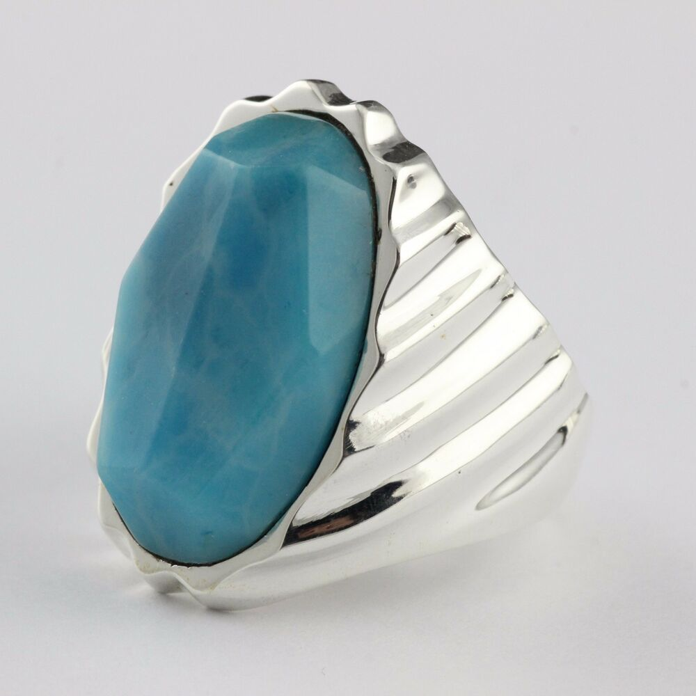 mens 925 sterling silver laminar blue turqiouse