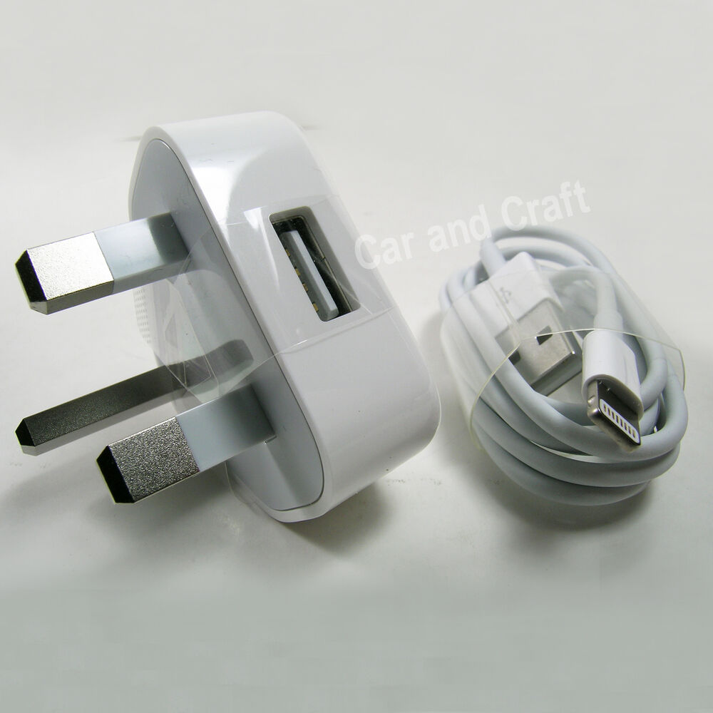 genuine apple iphone 6 6 5 5c uk ipod charger adapter. Black Bedroom Furniture Sets. Home Design Ideas