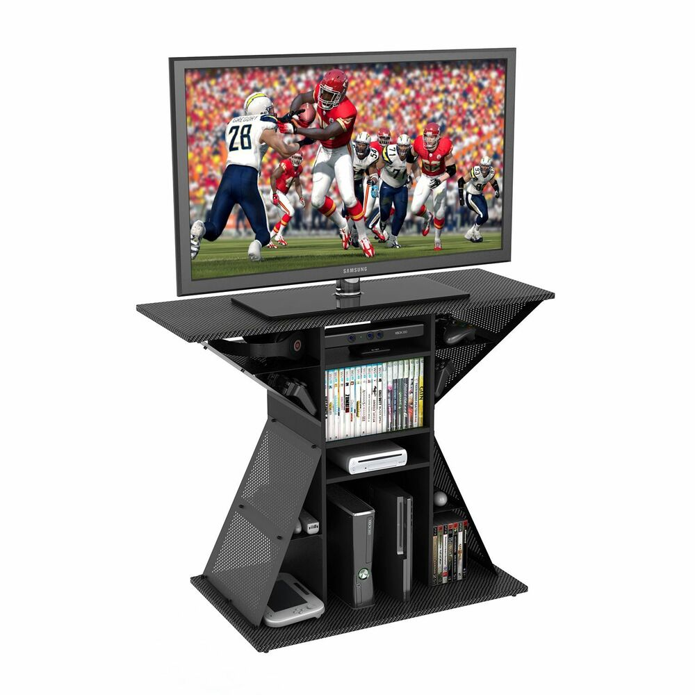 new video game stand gaming storage rack hub for 42 flat panel tv no sales tax ebay. Black Bedroom Furniture Sets. Home Design Ideas