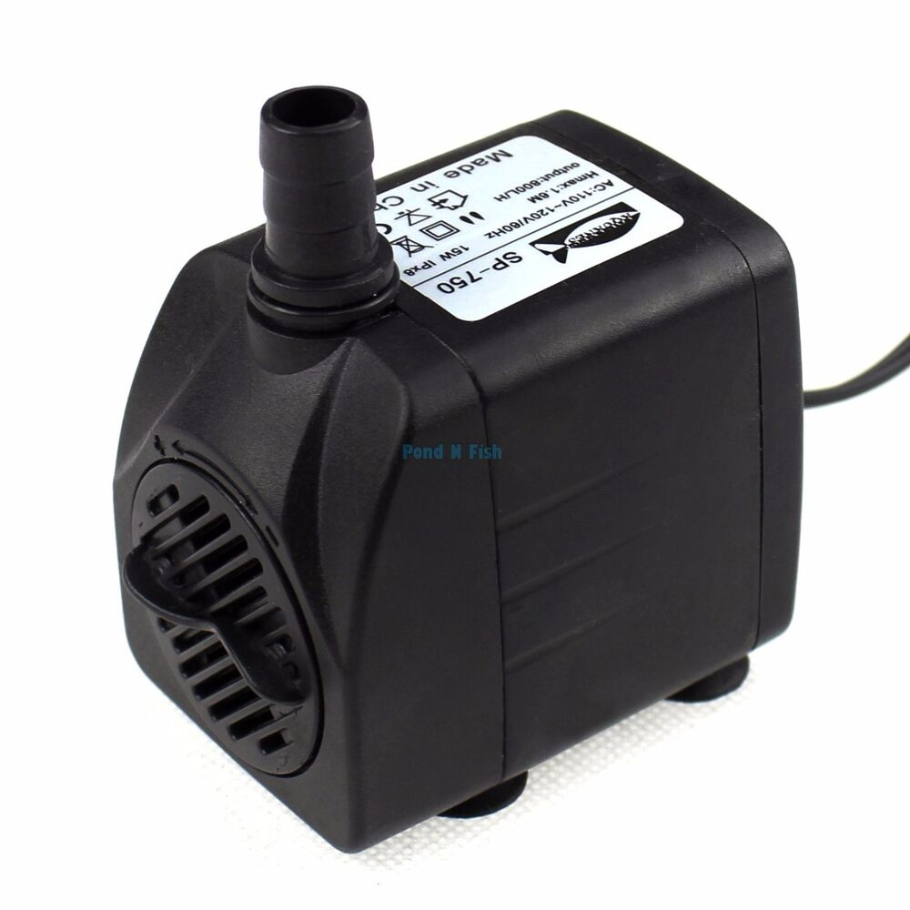 210 gph submersible aquarium water pump fish tank for Fish water pump