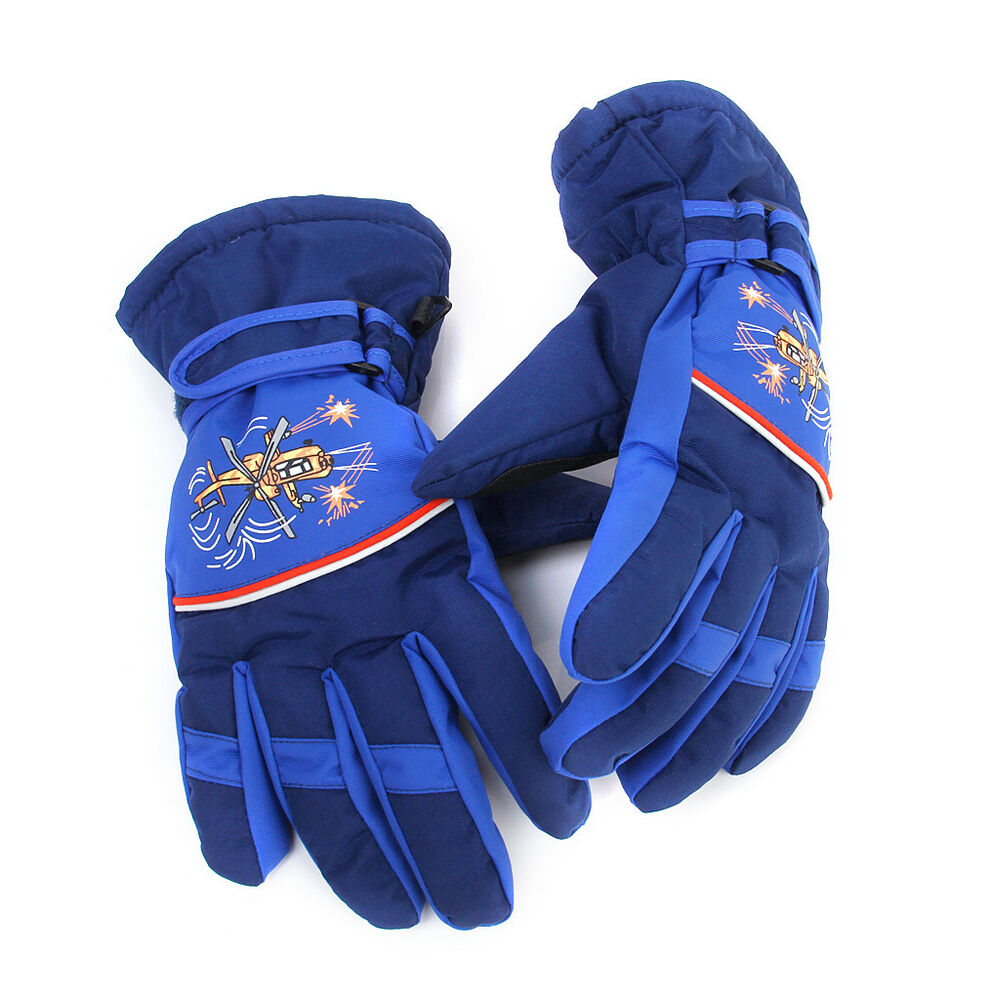 Kids Boys Girls Windproof Ski Snow Gloves Winter Gloves ...