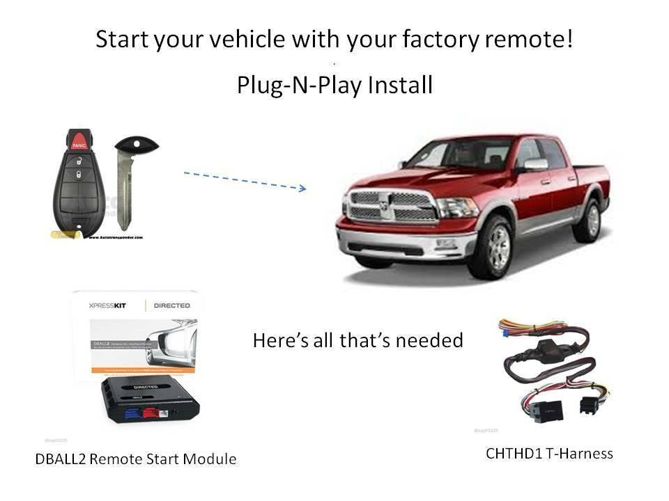 plug n play remote starter 2009 2012 dodge ram db3. Black Bedroom Furniture Sets. Home Design Ideas