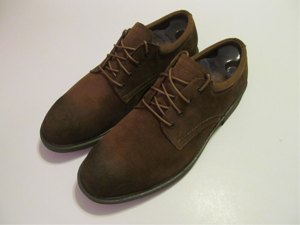 Mens Brown Suede Oxford Shoes