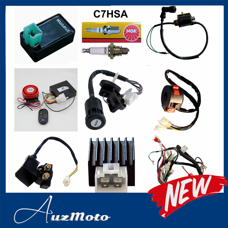 Full WIRING HARNESS 50cc 70cc 90cc 110cc 125cc QUAD BIKE ...