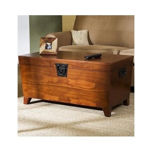 Cherry Wood Trunk Coffee Table: Hope Chest Storage Trunk Wood Bedroom Blanket Coffee Table