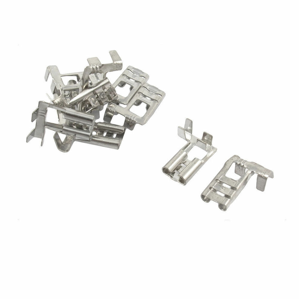 10 X Right Angle Male Spade Cable Terminals For 6 3mm