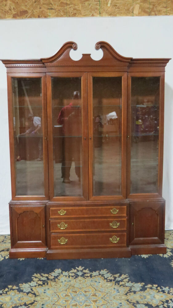 hickory china cabinet breakfront mahogany dining room set ebay