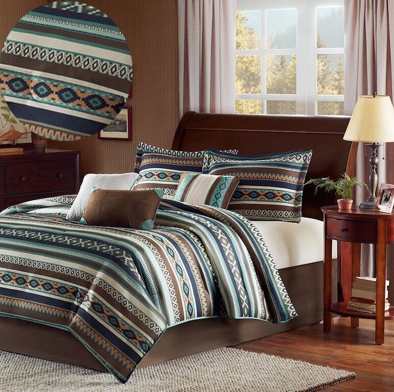 Southwest Comforter Set California King Size Blanket 7