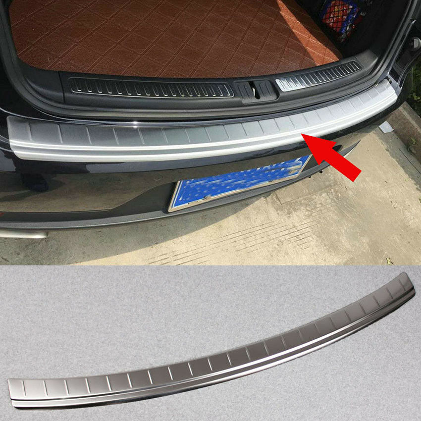 Stainless Steel Rear Bumper Sill Plate Guard Cover For