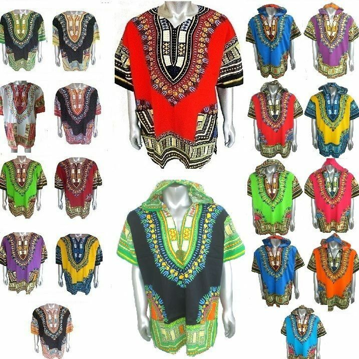 dashiki africain tribal ethnique chemise t shirt homme tunique femme hoodie ebay. Black Bedroom Furniture Sets. Home Design Ideas